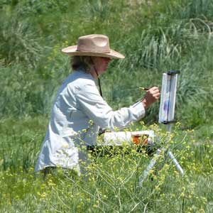 Enjoying painting en plein air