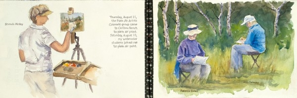 Plein air artists come to visit and paint