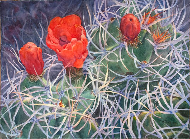 Chaco Cactus, watercolor
