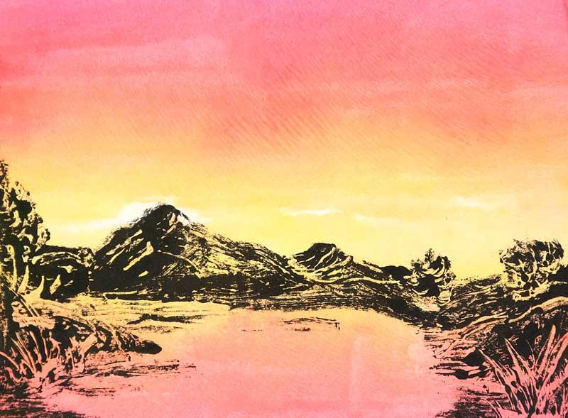 Colorado River Morning, monotype
