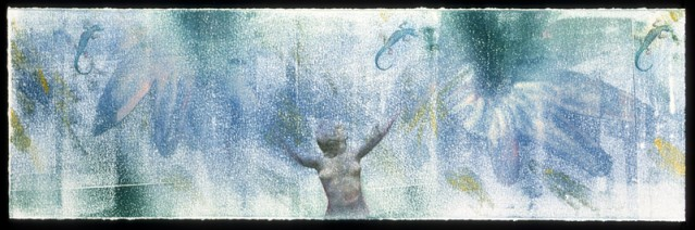 Free Spirit, monotype with copy transfer