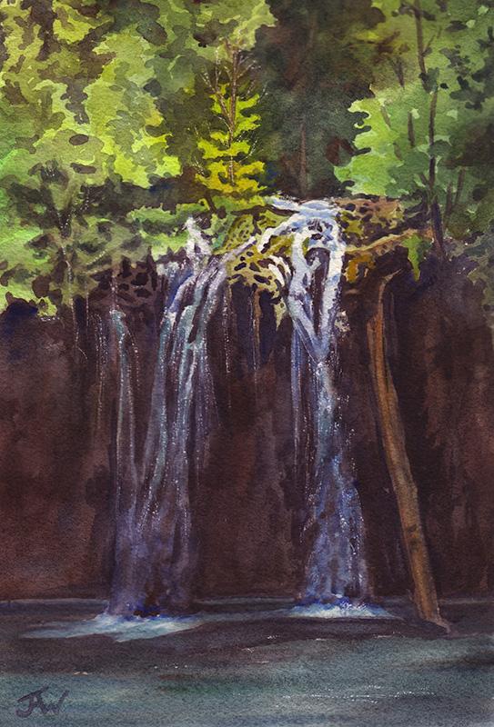 Hanging Lake, watercolor