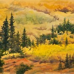 Indian Peaks Gold, watercolor
