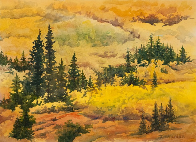 Indian Peaks Gold, watercolor