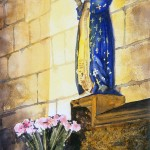 Madonna in Chartres, watercolor