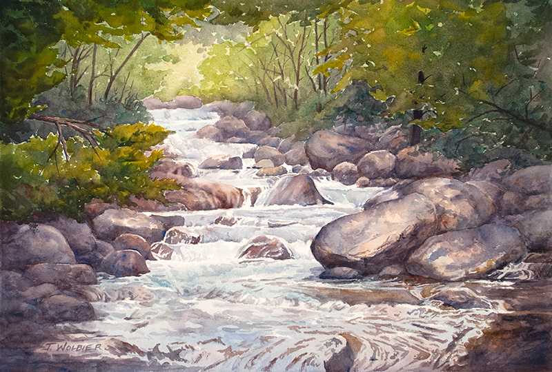 North Boulder Creek, watercolor