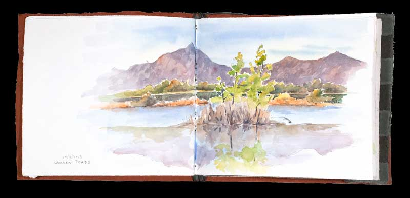 Plein Air Sketchbook, Walden Ponds