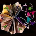 Quincunx, paper, ribbon