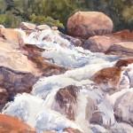 Roaring River, plein air watercolor