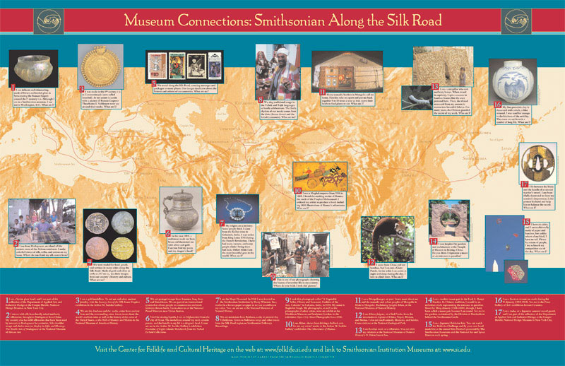 Silk Road Poster, Smithsonian Institution