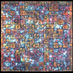 Tesselation, collograph print