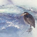 Winter Heron | Watercolor.