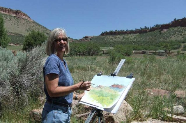 Enjoying plein air painting at Hall Ranch outside of Boulder, CO.