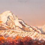 Morning Snow, original watercolor