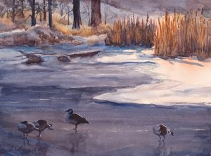 Viele Lake, plein air watercolor