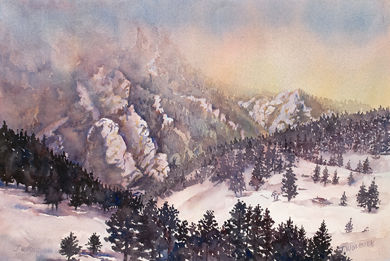 Winter Ranger, original watercolor