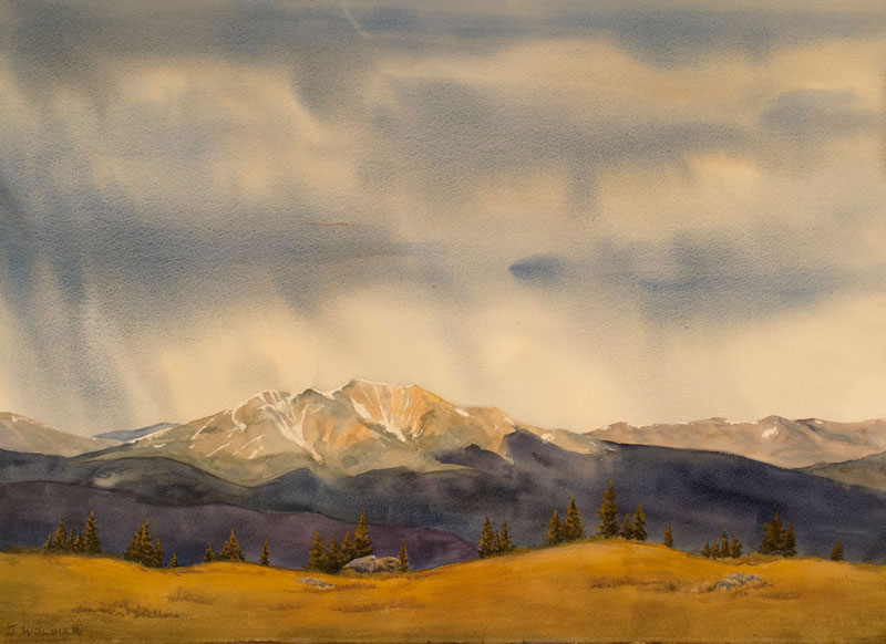 Mountain Storm is an original watercolor