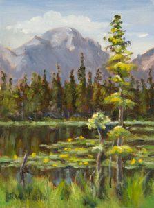 Nymph Lake, oil plein air