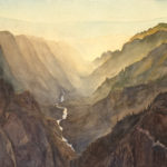 Black Canyon National Park is a pen and ink with watercolor