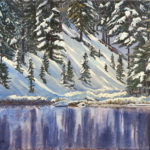 Lake Irene RMNP is a pen and ink with watercolor