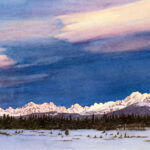 Front Range is a pen and ink with watercolor.