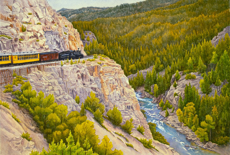Animas Canyon is a pen and ink with watercolor.