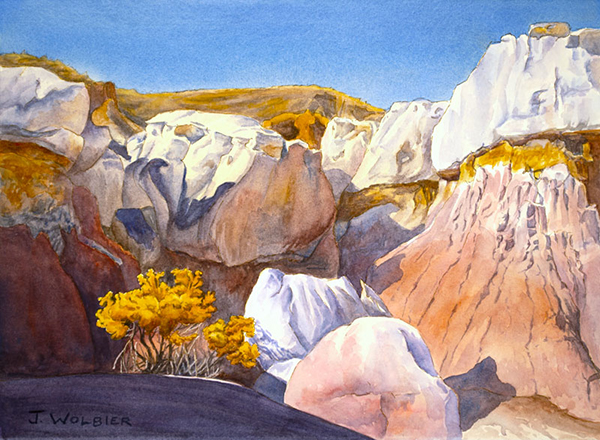 Paint Mines Interpretive Park is a pen and ink with watercolor.